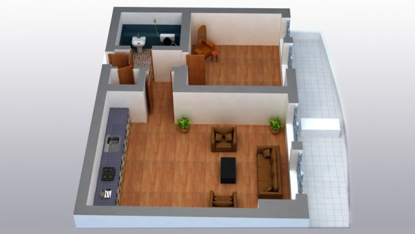 House plans to 3D
